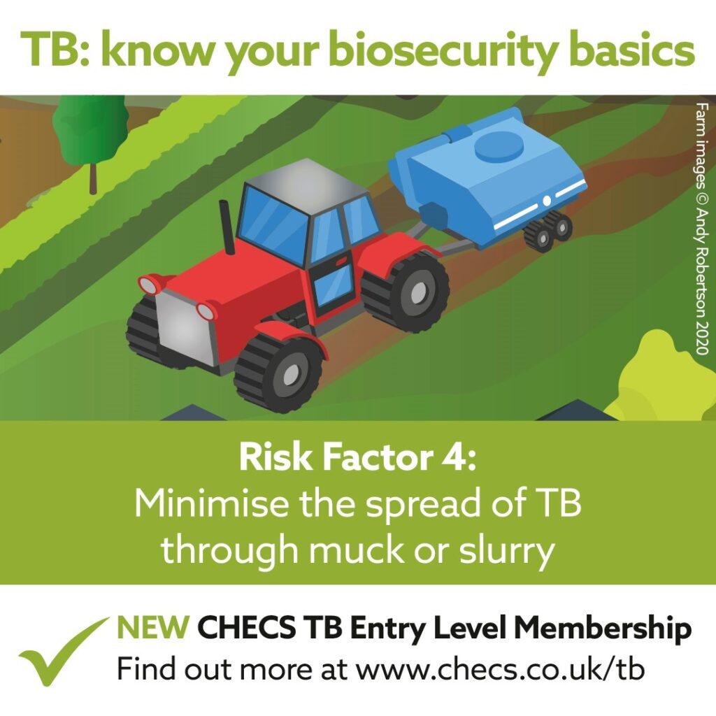 Minimise the spread of TB through muck or slurry